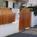 Portail bois et clôture
